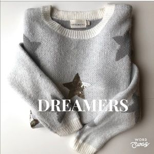 DREAMERS Star Sequinned Sweater